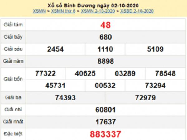 Nhận định KQXSBD ngày 09/10/2020- xổ số bình dương chuẩn xác